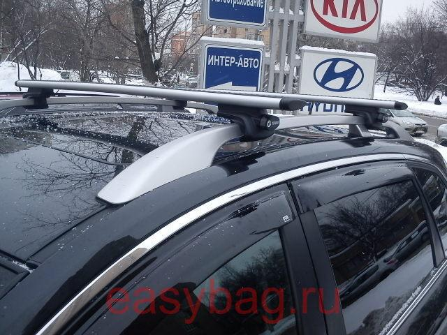 Багажник на рейлинги Thule для Opel Antara с рейлингами ...